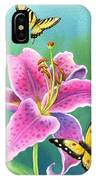 Lily And Butterflies IPhone Case