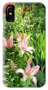 Lily Garden IPhone Case