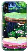 Lily Leaves Painterly  IPhone Case