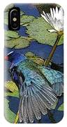 Lily Pad With Bird IPhone Case