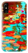 Lily Pads And Koi Colorful Water Garden In Bloom Waterlilies At The Lake Quebec Art Carole Spandau  IPhone Case