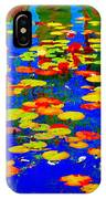 Lily Pads And Koi  Pond Waterlilies Summer Gardens Beautiful Blue Waters Quebec Art Carole Spandau  IPhone Case
