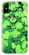 Lily Pads On Black IPhone X Case