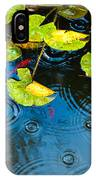 Lily Pads Ripples And Gold Fish IPhone Case
