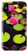 Lily Pads With Pink Flowers - Square IPhone Case