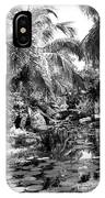 Lily Pond Bw IPhone Case