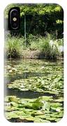 Lily Pond View Monets Garden IPhone Case