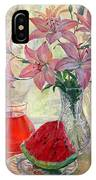 Lily With Watermelon IPhone Case