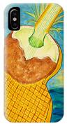 Lime Coconut Pineapple Guitar IPhone Case
