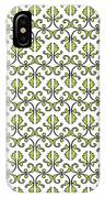 Lime Green And White Vines IPhone Case