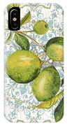 Limes On Damask IPhone Case