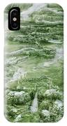 Limestone Detail Minerva Springs Yellowstone National Park IPhone Case
