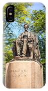 Lincoln Head Of State Statue In Chicago IPhone Case