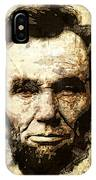 Lincoln Sepia Grunge IPhone Case