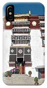 Line Of Pilgrims And Tourists Entering Former Living Quarters Of Dalai Lama In Potala Palace-tibet IPhone Case