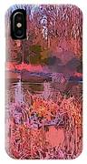 Linear Abstraction Of Pond IPhone Case