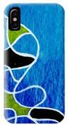 Linework Blue IPhone Case