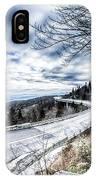 Linn Cove Viaduct Winter Scenery IPhone Case