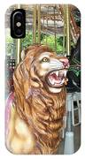 Lion At Liberty IPhone Case