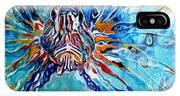 Lion Fish Blue IPhone X Case