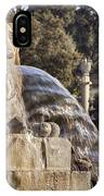 Lion Fountain In Rome Italy IPhone Case
