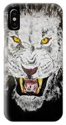Lion In The Darkness IPhone Case