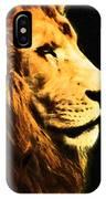 Lion Paint 2 IPhone Case
