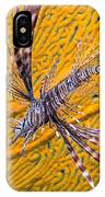 Lionfish Against Yellow Fan Coral IPhone Case