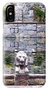 Lions In The Renaissance Court Fountain 2 IPhone Case