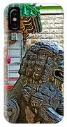 Lions Roar At Entry Gate To  Chinatown In San Francisco-california  IPhone Case