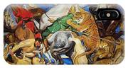 Lions Tigers And Leopard Hunt Homage To Rubens IPhone Case