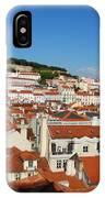 Lisbon Cityscape With Sao Jorge Castle And Cathedral IPhone Case