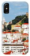 Lisbon Cityscape With Sao Jorge Castle IPhone Case