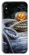 Lit Pumpkin IPhone Case