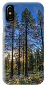 Lit Up Trees IPhone Case