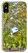 Literary Walk In Central Park IPhone Case