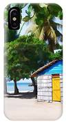 Little Beach Shack Under The Palms IPhone Case
