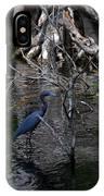 Little Blue Heron IPhone Case