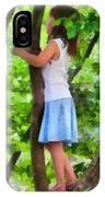 Little Girl Playing In Tree IPhone Case