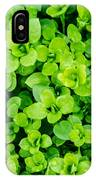 Little Green Leafs. IPhone X Case