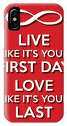 Live Love Red IPhone Case