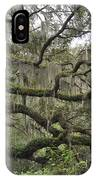 Live Oaks And Spanish Moss B IPhone Case