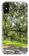 Live Oaks Dripping With Spanish Moss IPhone Case