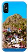 Living On The Edge Of The Battery Painterly Triptych IPhone Case