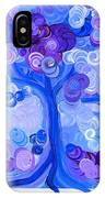 Liz Dixon's Tree Blue IPhone Case