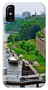 Locks On Rideau Canal East Of Parliament Building In Ottawa-on IPhone Case