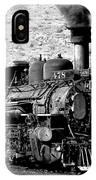 Locomotive Black And White Train Steam Engine IPhone Case