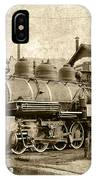 Locomotive No. 15 In The Yard IPhone Case