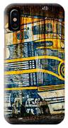 Locomotive On A Wall IPhone Case
