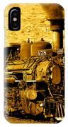 Sepia Locomotive Coal Burning Train Engine   IPhone Case
